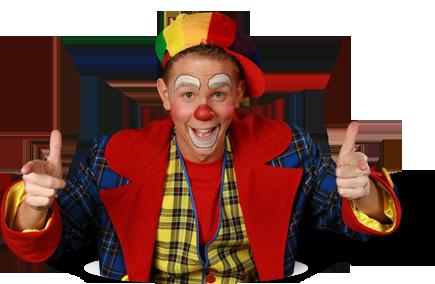 Clown op kinderfeestje